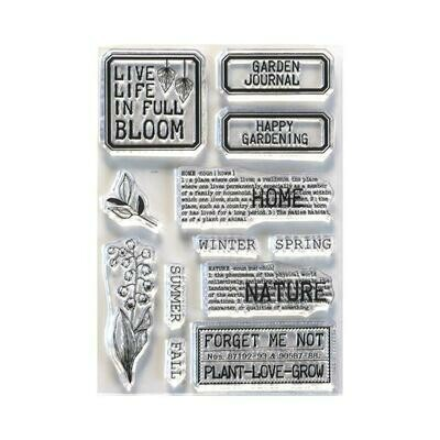 Elizabeth Craft Clear Stamps Home & Nature