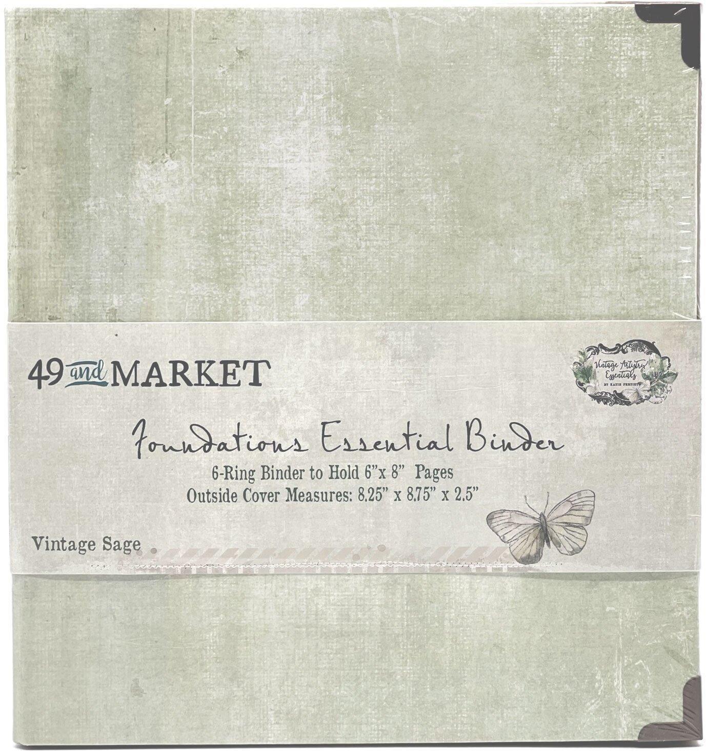 49 And Market Foundations Essential Binder-Vintage Sage