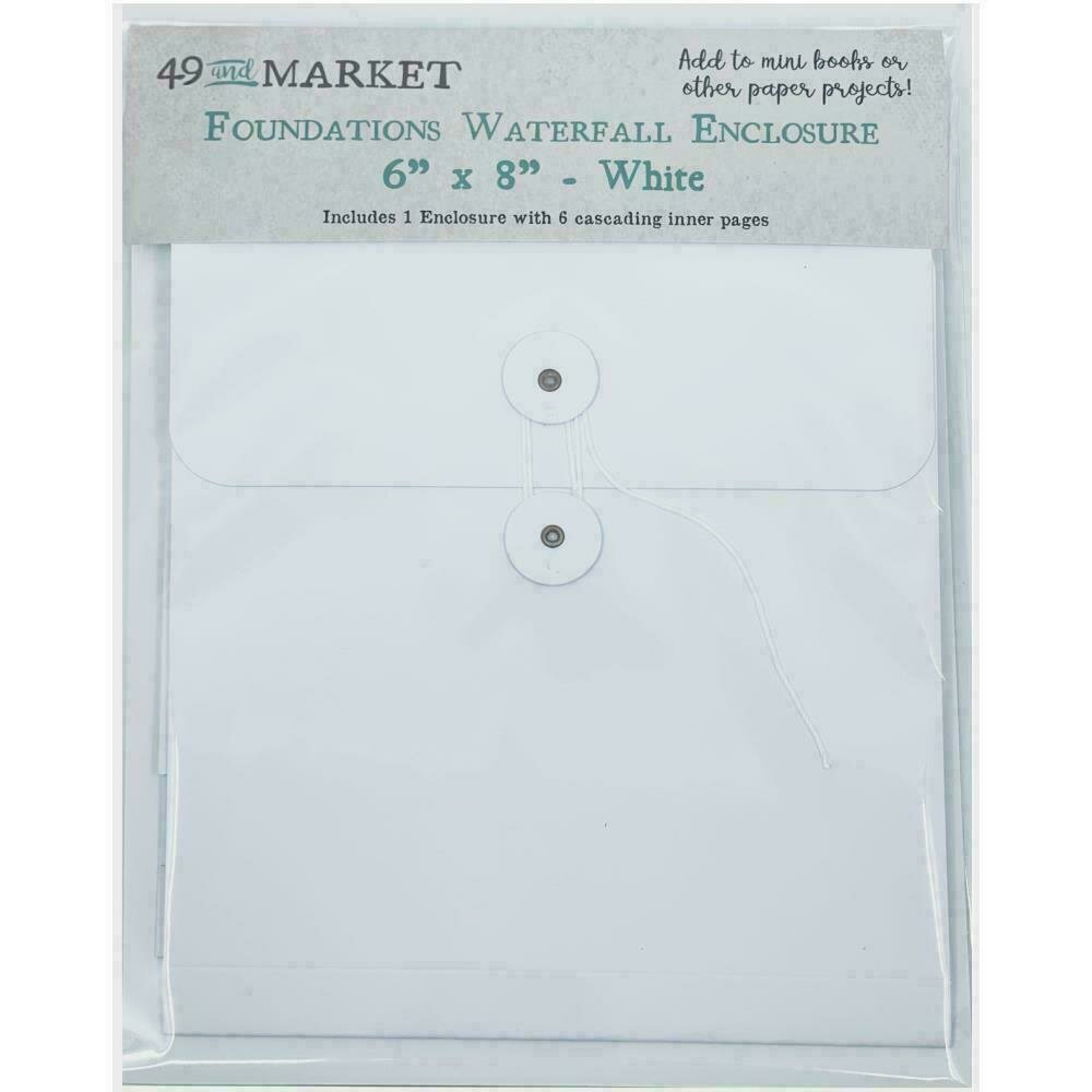 """49 And Market Foundations Waterfall Enclosure 6""""X8"""" White"""