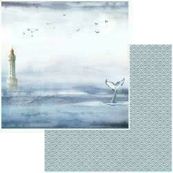 """49 and Market Seaside Double-Sided Cardstock 12""""X12"""" Whales Tales"""