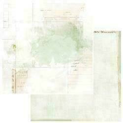 """49 and Market Vintage Artistry Sage Double-Sided Cardstock 12""""X12"""" Echoes"""
