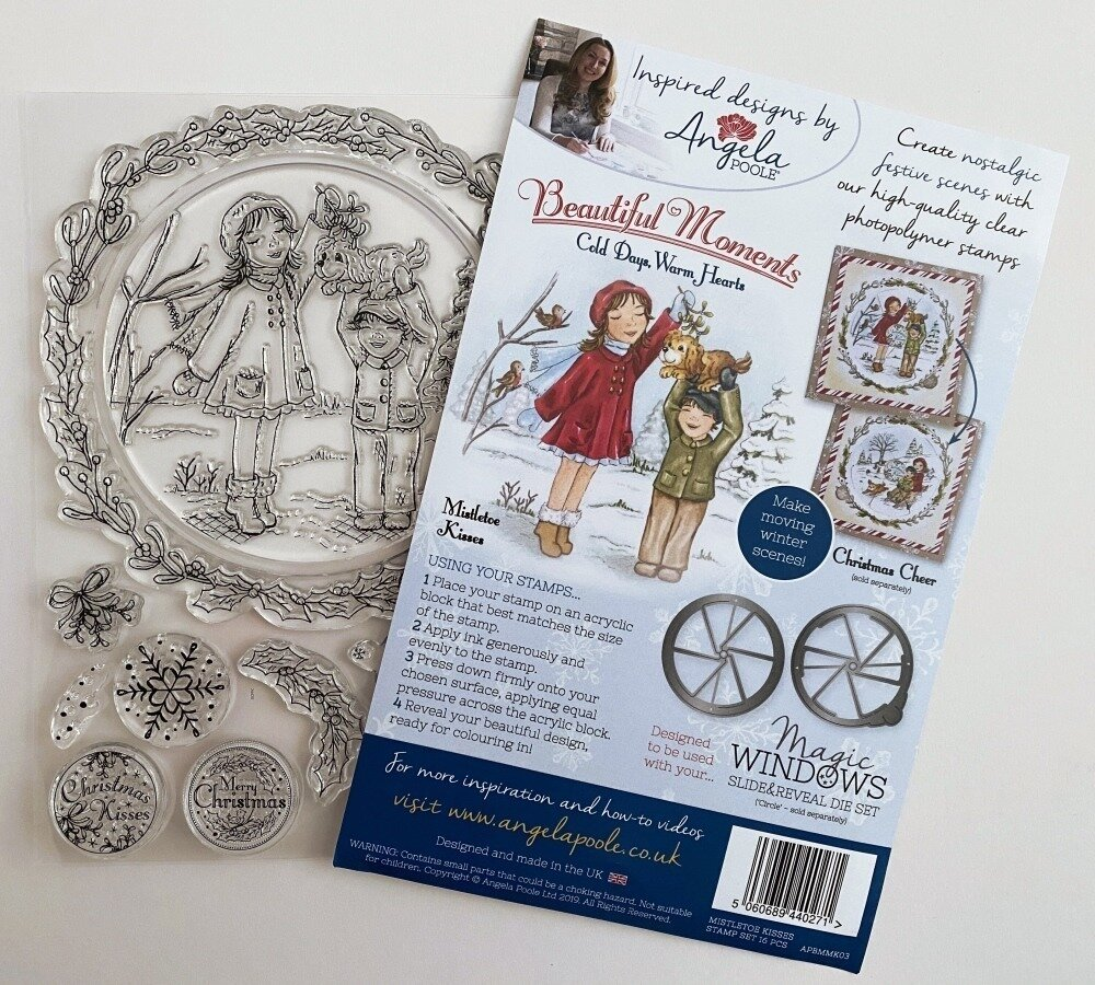 Angela Poole Clear Stamp Cold Days Warm Hearts - Mistletoe Kisses