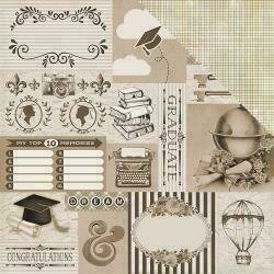 """Authentique Accolade Double-Sided Cardstock 12""""X12"""" #10"""