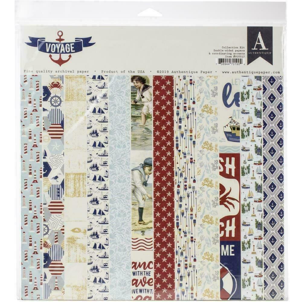 """Authentique Collection Kit 12""""X12"""" Voyage"""