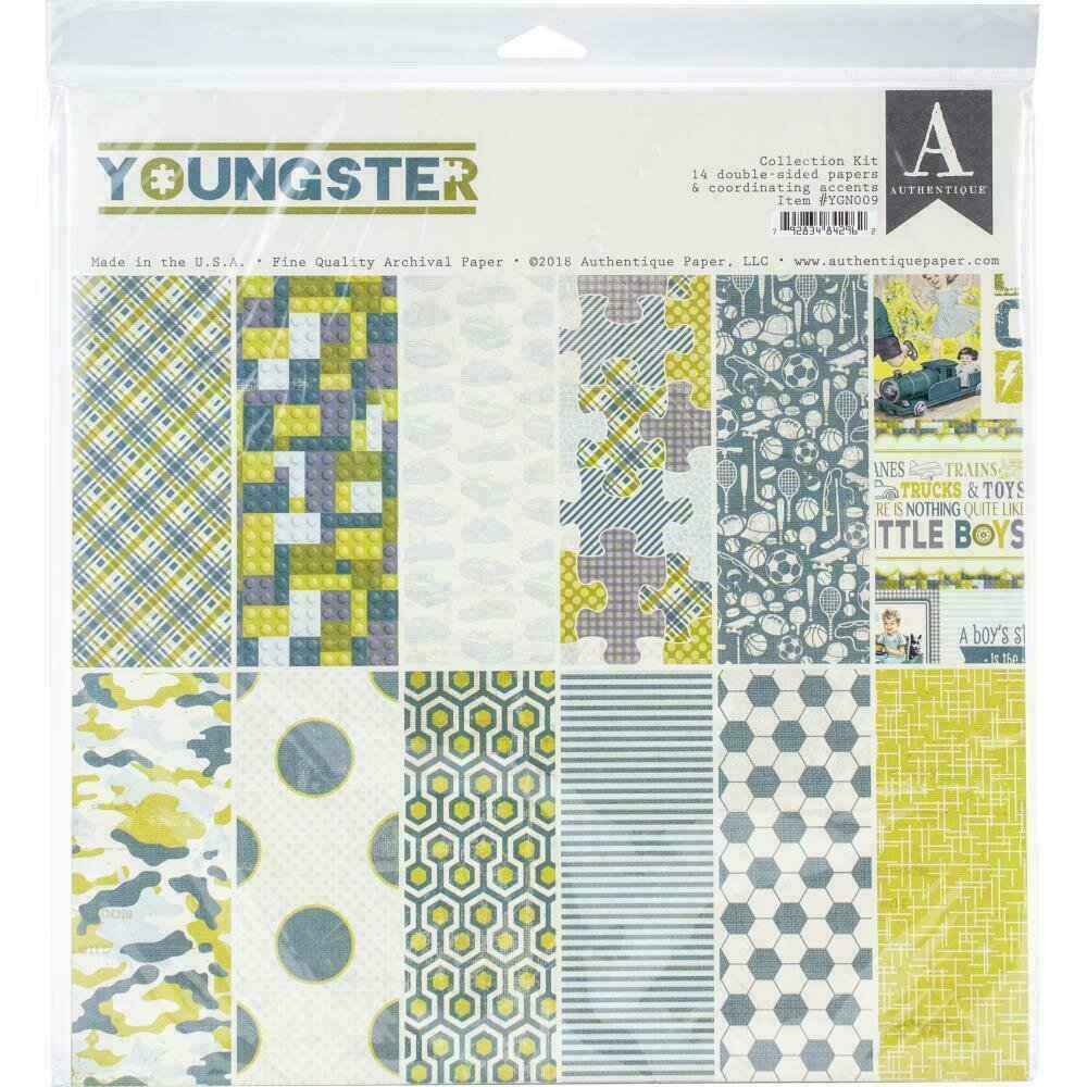 """Authentique Collection Kit 12""""X12"""" Youngster"""
