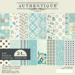 "Authentique Double-Sided Cardstock Pad 6""X6"" 24/Pkg Swaddle Boy 8 Designs/3 Each"