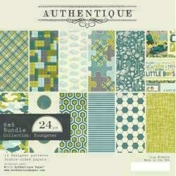 """Authentique Double-Sided Cardstock Pad 6""""X6"""" 24/Pkg Youngster 6 Designs/4 Each"""