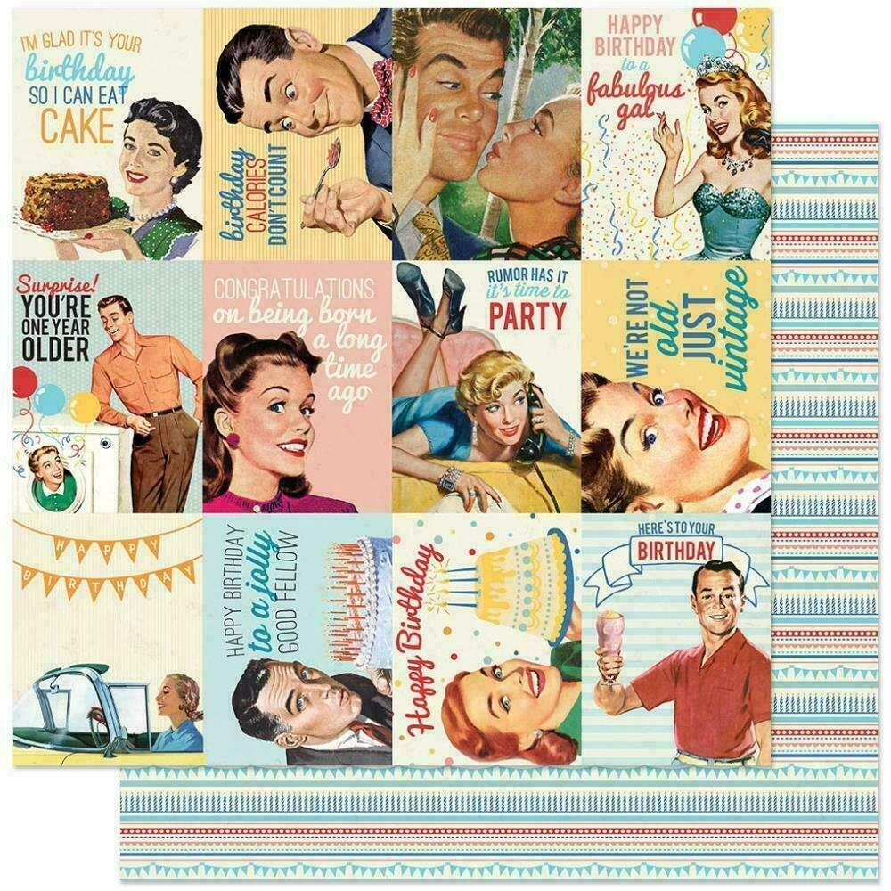 "Authentique Hooray Cardstock 12""X12"" #8  Cut-Aparts"