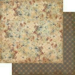 """Authentique Manly Double-Sided Cardstock 12""""X12"""" #5 Paint Splatter"""