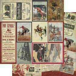 """Authentique Manly Double-Sided Cardstock 12""""X12""""#8 Multi Size Cut-Apart Cards"""