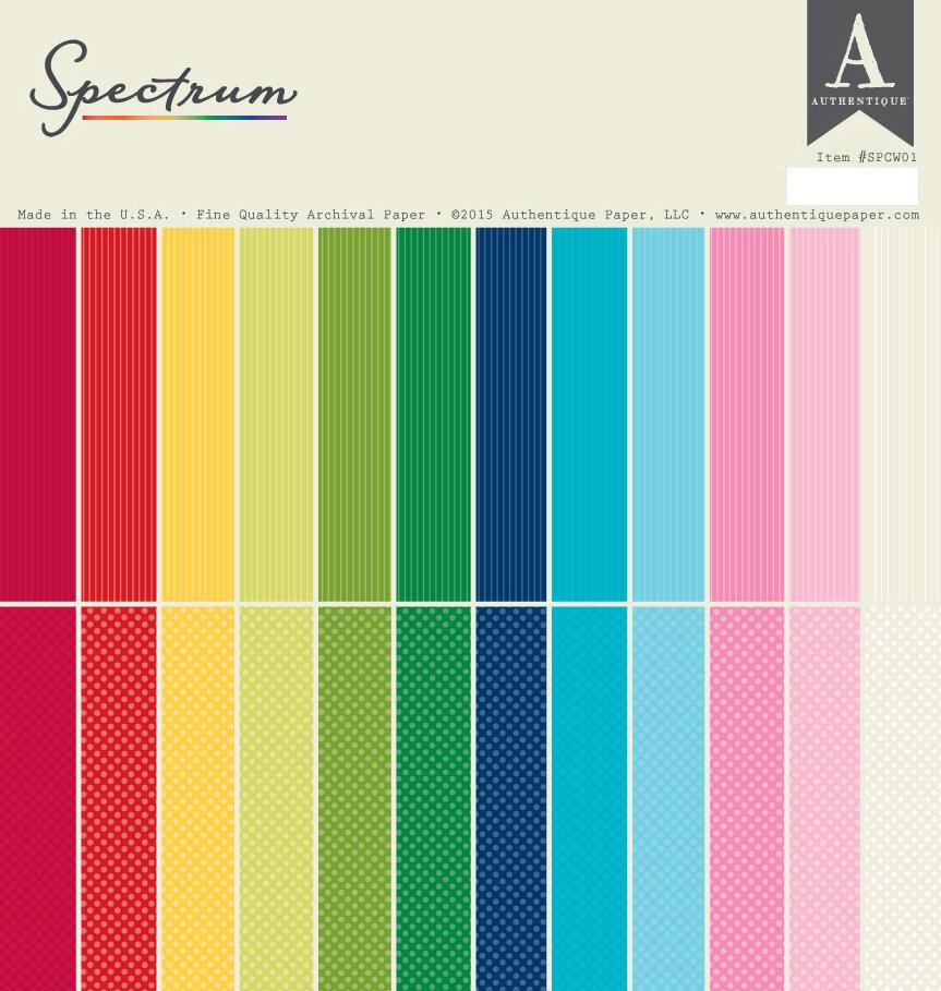 Authentique Paper 12X12 Spectrum Series Paper Pad 1