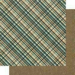 """Authentique Purebred Double-Sided Cardstock 12""""X12""""#1 Multi Color Plaid"""