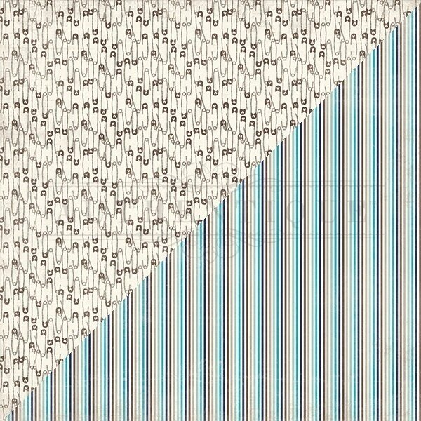 """Authentique Swaddle Boy Double-Sided Cardstock 12""""X12"""" #4"""