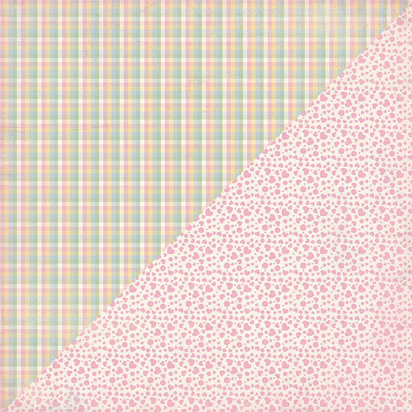 """Authentique Swaddle Girl Double-Sided Cardstock 12""""X12""""#2"""
