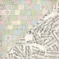 """Authentique Swaddle Girl Double-Sided Cardstock 12""""X12""""#4 Mixed Pattern Quilt"""