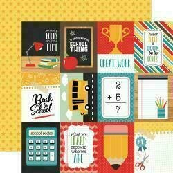 """Back To School 12""""X12"""" Cardstock  3""""X4"""" Journaling Cards"""