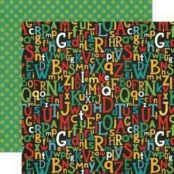 """Back To School Double-Sided Cardstock 12""""X12"""" Alphabet Scramble"""