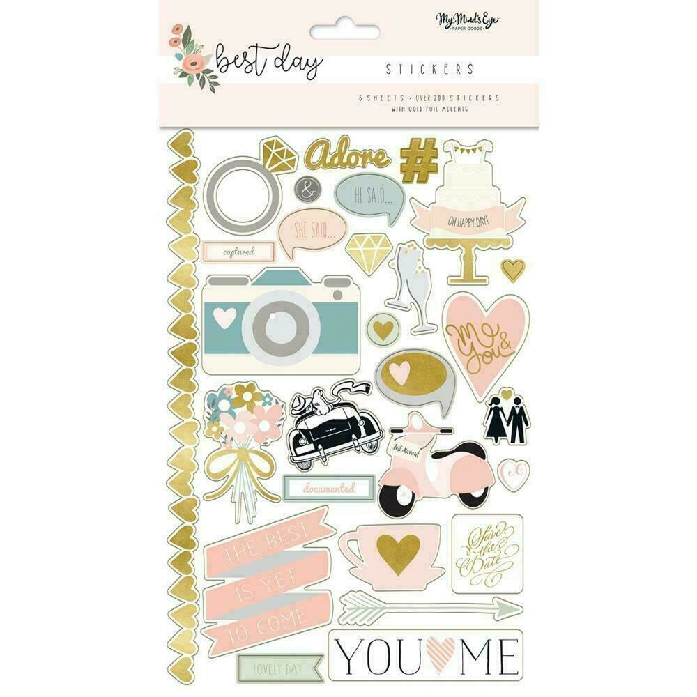 Best Day Stickers 6 Sheets