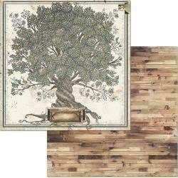 """Bo Bunny Once Upon A Lifetime Double-Sided Cardstock 12""""X12"""" Family Tree"""