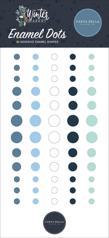 Carta Bella Adhesive Enamel Dots 60/PkgWinter Market