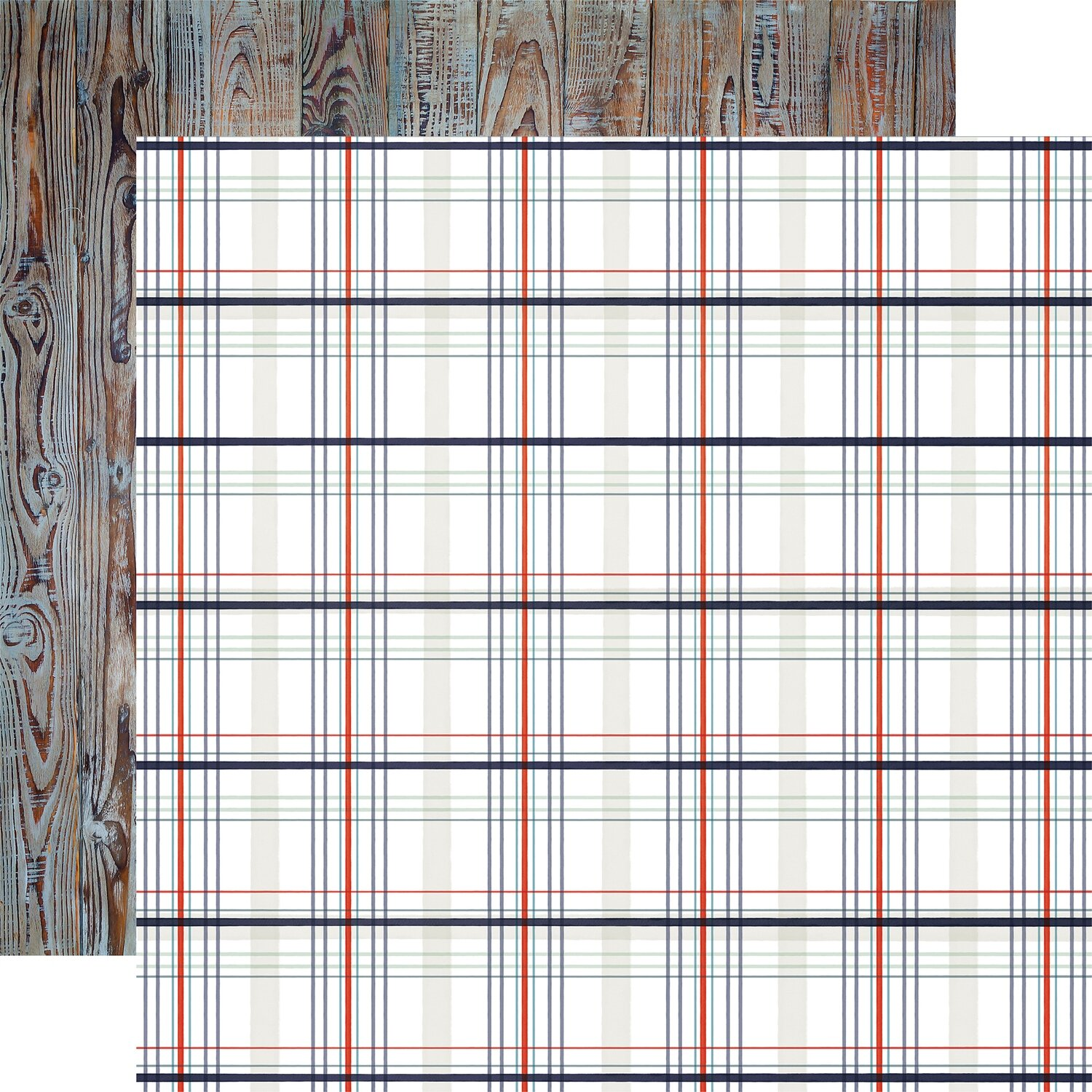 """Carta Bella By The Sea Double-Sided Cardstock 12""""X12""""  Nautical Plaid"""