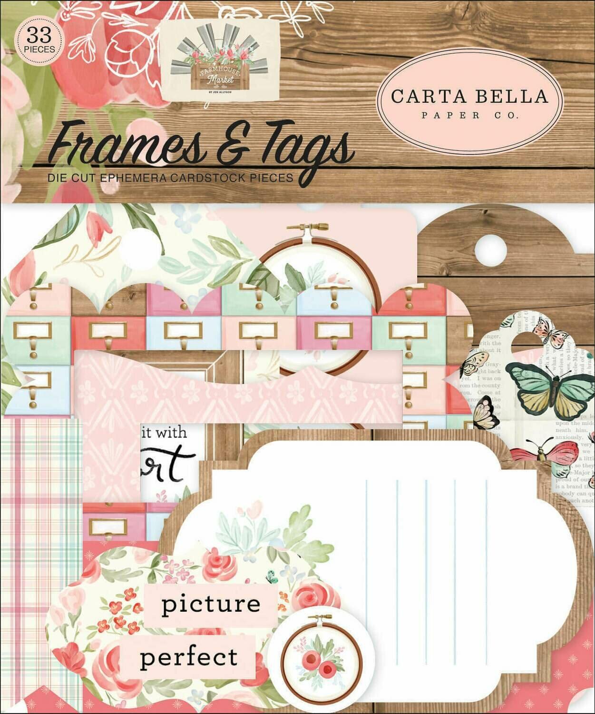 Carta Bella Cardstock Ephemera 33/Pkg Frames & Tags Farmhouse Market