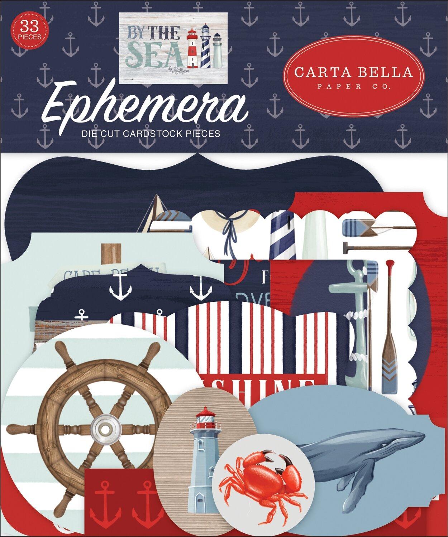 Carta Bella Cardstock Ephemera 33/Pkg Icons By The Sea