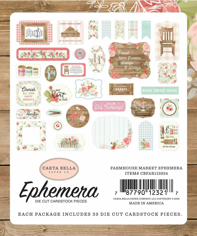 Carta Bella Cardstock Ephemera 33/Pkg Icons Farmhouse Market