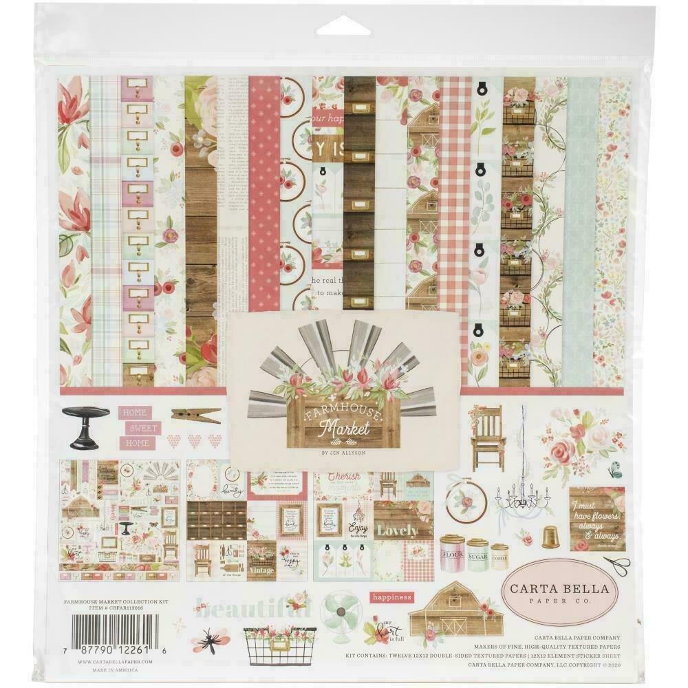 "Carta Bella Collection Kit 12""X12"" Farmhouse Market"