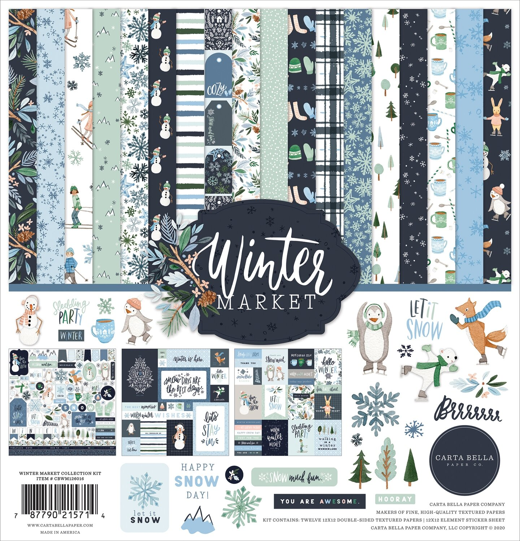 "Carta Bella Collection Kit 12""X12"" Winter Market"