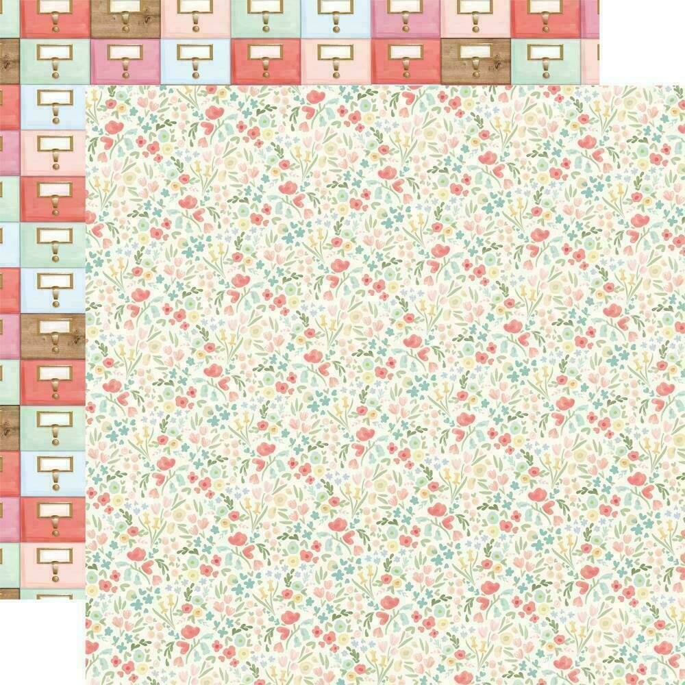 "Carta Bella Farmhouse Market Double-Sided Cardstock 12""X12""  Antique Floral"