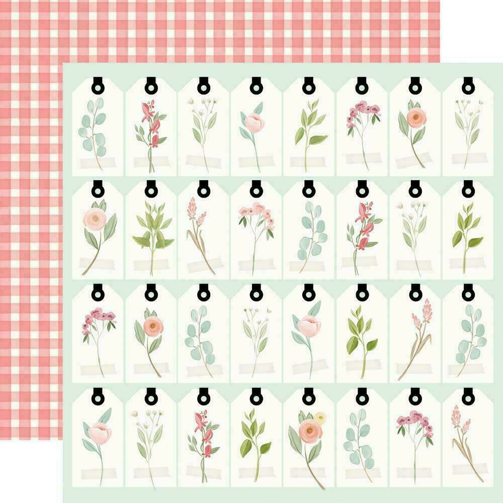 "Carta Bella Farmhouse Market Double-Sided Cardstock 12""X12""  Tags"