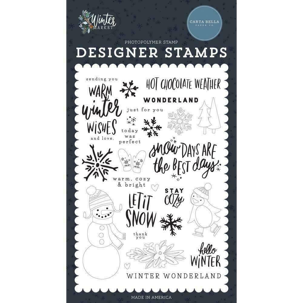 Carta Bella Stamps Warm Winter Wishes stamp set
