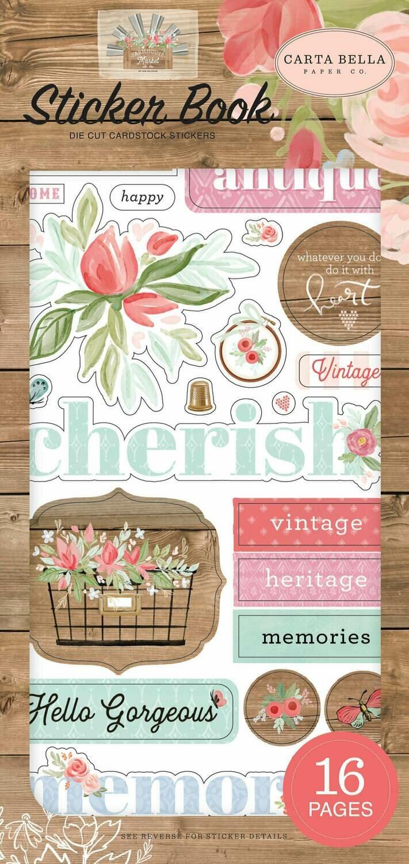 Carta Bella Sticker Book Farmhouse Market