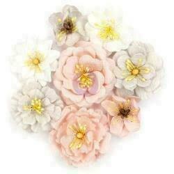 "Cherry Blossom Paper Flowers Thea 1.5"" - 2"" 8/Pkg"
