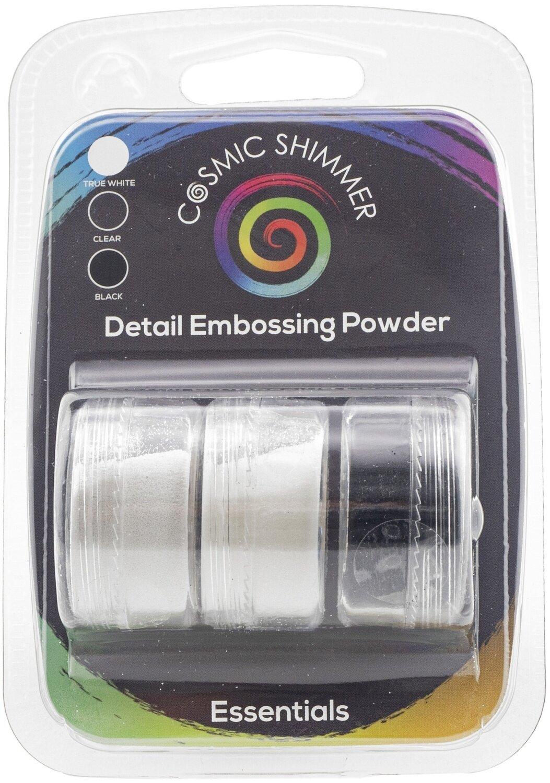 Cosmic Shimmer Embossing Powder Trio-Detail