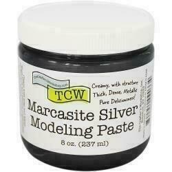 Crafter's Workshop Modeling Paste 8oz Marcasite Silver