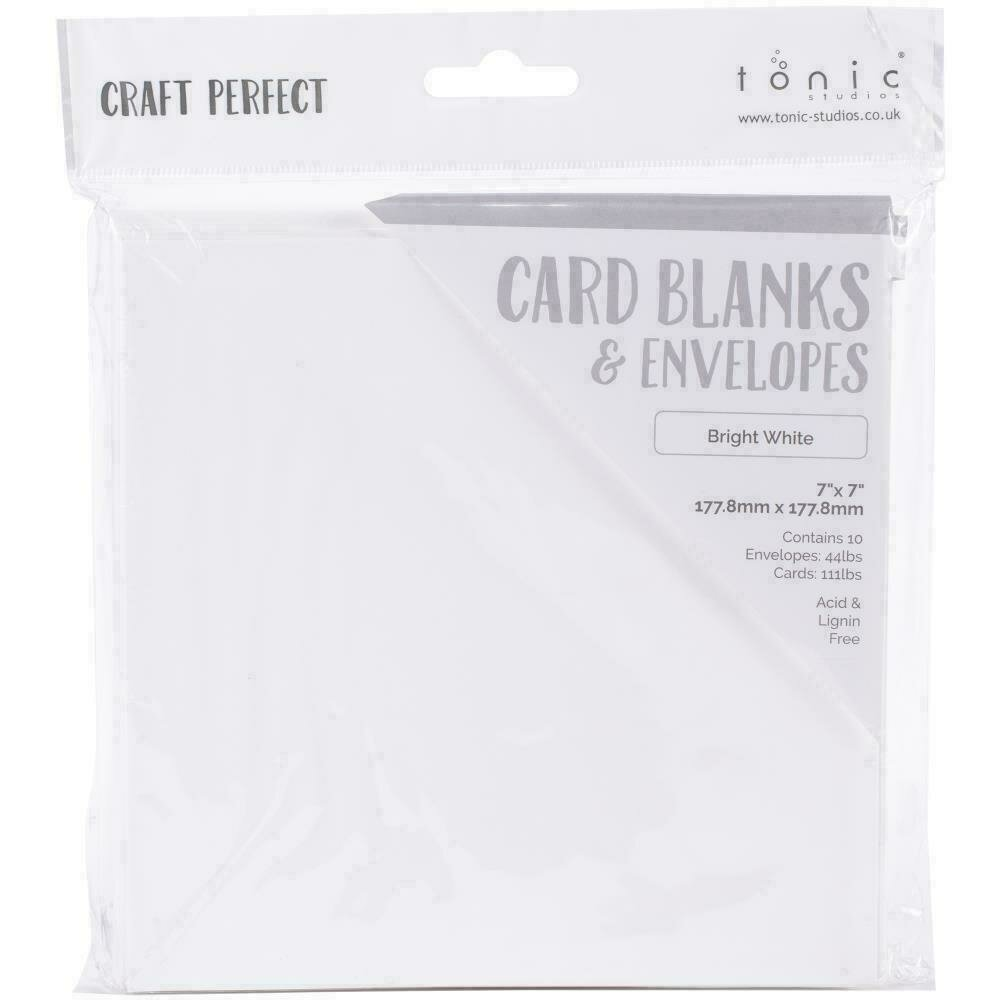 """Craft Perfect Card Blanks 7""""X7"""" Bright White"""