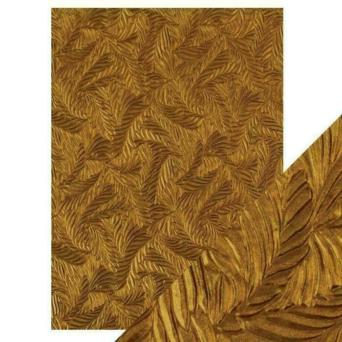 Craft Perfect - Hand Crafted Cotton Paper - Copper Feathers - A4(5/PK)