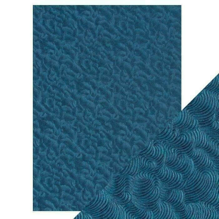 Craft Perfect - Hand Crafted Cotton Paper - Deep Sea Dive - A4(5/PK)