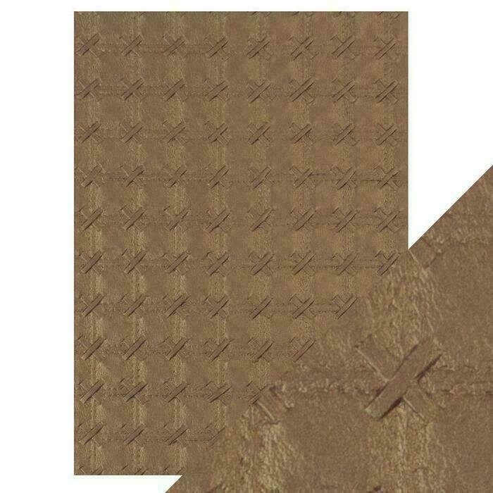 Craft Perfect - Hand Crafted Cotton Paper - Patchwork Parchment - A4(5/PK)