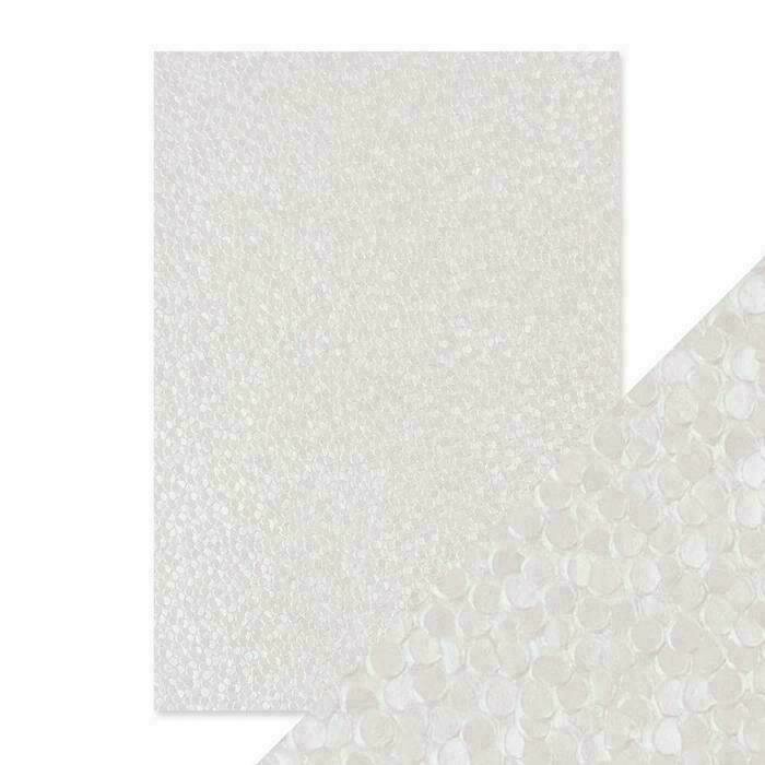 Craft Perfect - Hand Crafted Cotton Paper - Snowdrop Meadow - A4(5/PK)