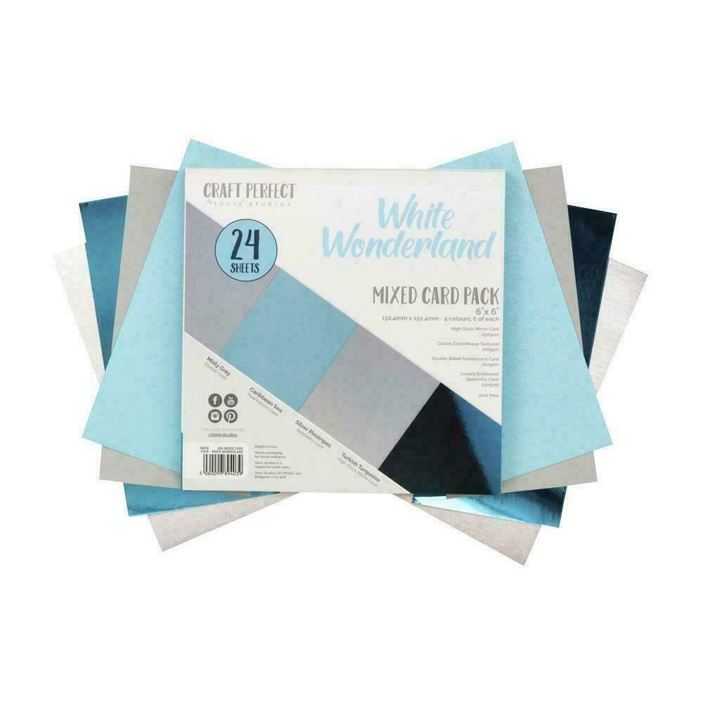 "Craft Perfect Specialty Cardstock 6""X6"" 24/Pkg White Wonderland"