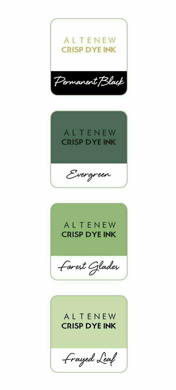 Altenew Crisp Dye Ink Mini Cube Set - Green Fields Pack