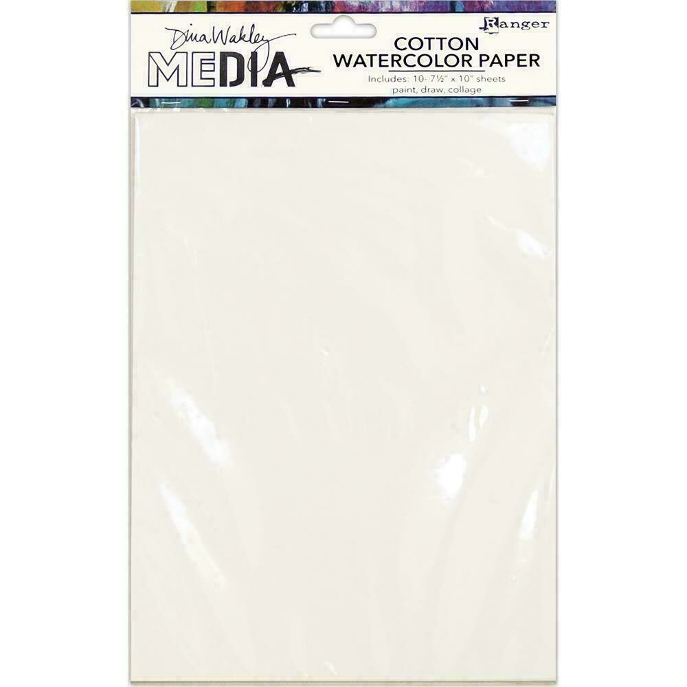 Dina Wakley Media Cotton Watercolor Paper Pack
