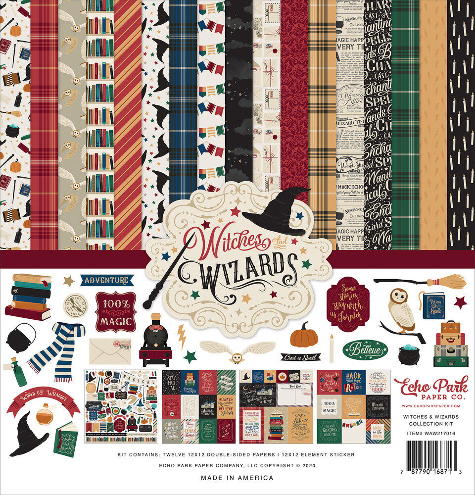 Echo Park 12X12 Collection Kit Witches & Wizards