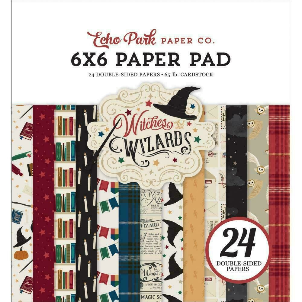 Echo Park 6X6 Paper Pad Witches & Wizards