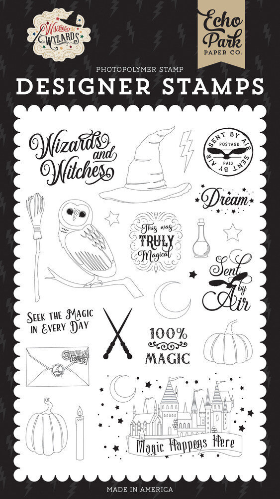 Echo ParkClear Stamp Witches & Wizards - Sent By Air