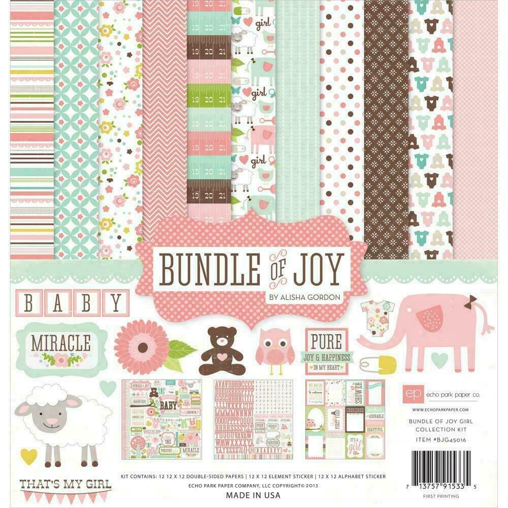"Echo Park Collection Kit 12""X12"" Bundle Of Joy Girl"