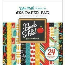 """Echo Park Double-Sided Paper Pad 6""""X6"""" 24/Pkg Back To School 12 Designs/2 Each"""